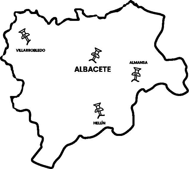 mapa sedes clm TMS albacete - SEDES
